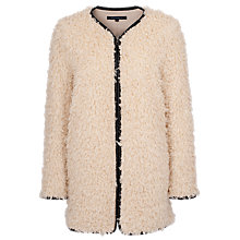 Buy French Connection Santorini Coat, Cream Online at johnlewis.com
