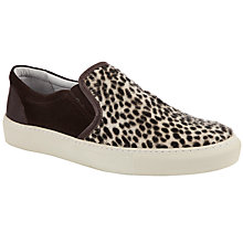 Buy KG by Kurt Geiger Corsica Slip On Leopard Print Shoes, Brown Online at johnlewis.com