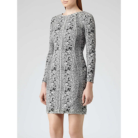 Buy Reiss Fion Snake Print Dress, Grey Online at johnlewis.com