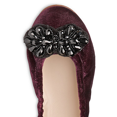 Buy L.K. Benett Edie Velvet Pump Shoes Online at johnlewis.com