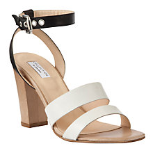 Buy COLLECTION by John Lewis Santa Block Heel Sandals, Black/White Online at johnlewis.com