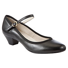 Buy John Lewis Raleigh Mary Jane Leather Court Shoes, Black Online at johnlewis.com