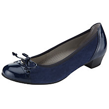 Buy Gabor Delius Leather Court Shoes Online at johnlewis.com