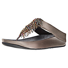 Buy FitFlop Cha Cha Leather Flip Flops Online at johnlewis.com