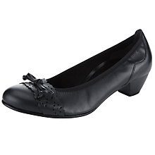 Buy Gabor Pukka Court Shoes, Black Online at johnlewis.com