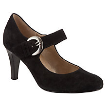 Buy Gabor Glimpse Suede Mary Jane, Black Online at johnlewis.com