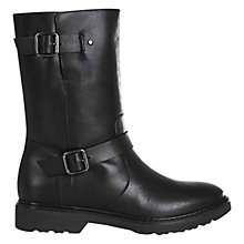 Buy Hobbs Lyla Leather Ankle Boots, Black Online at johnlewis.com