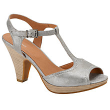 Buy John Lewis Suede T-Bar Sandals, Silver Online at johnlewis.com
