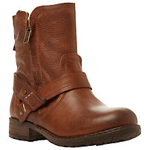Buy Steve Madden Luckyone Distressed Leather Ankle Boots Online at johnlewis.com