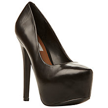 Buy Steve Madden DejaVu Platform Court Shoes, Black Online at johnlewis.com