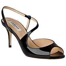 Buy L.K. Bennett Palmita Sandals, Black Online at johnlewis.com