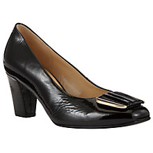 Buy Gabor Patent Leather Robyn Court Shoes, Black Online at johnlewis.com