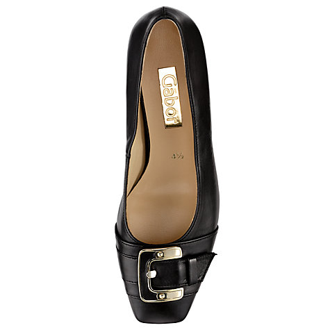 Buy Gabor Monument Ballerina Pumps, Black Online at johnlewis.com