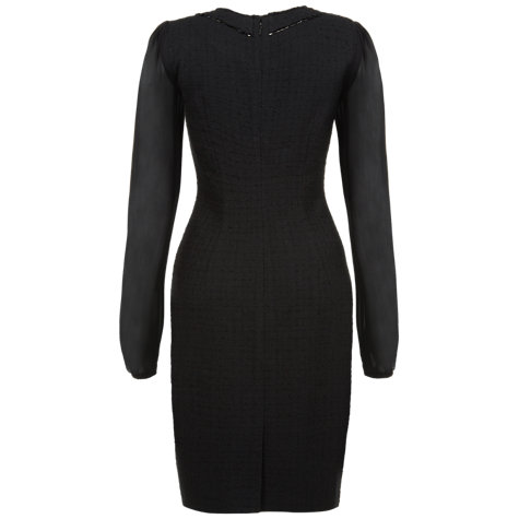 Buy Fenn Wright Manson Suki Chiffon Sleeve Dress, Black Online at johnlewis.com