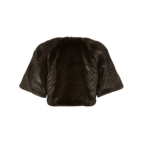 Buy Fenn Wright Manson Thalia Faux Fur Bolero, Black Online at johnlewis.com
