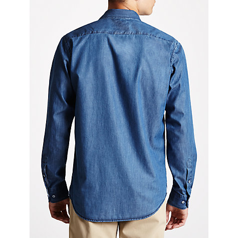 Buy Daniel Hechter Chambray Long Sleeve Shirt, Indigo Online at johnlewis.com