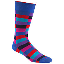 Buy Duchamp Harlequin Pattern Socks, Purple/Red Online at johnlewis.com