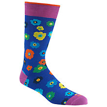 Buy Duchamp Floral Print Socks, Blue/Purple Online at johnlewis.com