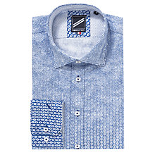 Buy Daniel Hechter Graduated Print Long Sleeve Shirt, Blue Online at johnlewis.com