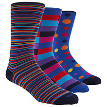 Buy Duchamp Assorted Stripe Socks, Multi Online at johnlewis.com