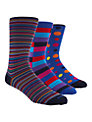 Duchamp Assorted Stripe Socks, Multi