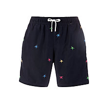 Buy Hackett London Logo Swimming Trunks, Navy Online at johnlewis.com
