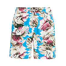 Buy Hackett London Foliage Print Swim Shorts, Blue/Multi Online at johnlewis.com