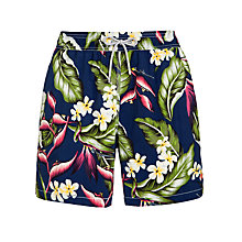 Buy Hackett London Tropical Flower Swim Shorts, Navy/Multi Online at johnlewis.com