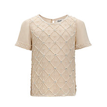 Buy Somerset By Alice Temperley Girls' Bead Detail Top, Cream Online at johnlewis.com