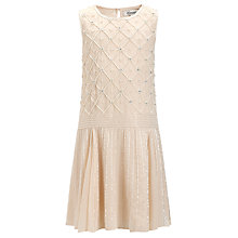 Buy Somerset by Alice Temperley Girls' Drop Waist Bead Dress, Cream Online at johnlewis.com
