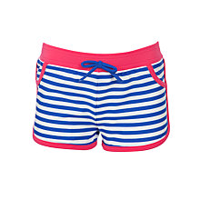 Buy John Lewis Girl Stripe Board Shorts, Blue/Red Online at johnlewis.com