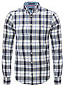 Gant Oxford Long Sleeve Check Shirt, Blue/White