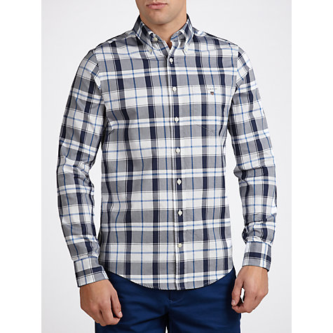 Buy Gant Oxford Long Sleeve Check Shirt, Blue/White Online at johnlewis.com