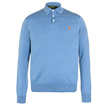 Buy Polo Ralph Lauren Custom Fit Knitted Long Sleeve Polo Shirt Online at johnlewis.com