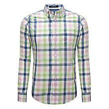 Buy Gant Poplin Large Check Shirt, Multi Online at johnlewis.com