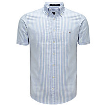 Buy Gant Summer Short Sleeve Oxford Shirt, Light Blue Online at johnlewis.com