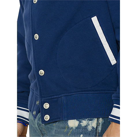 Buy Polo Ralph Lauren Varsity Jacket, Blue Online at johnlewis.com
