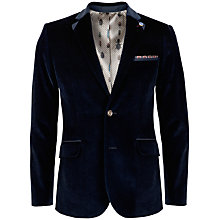 Buy Ted Baker Rudulf Herringbone Velvet Blazer, Navy Online at johnlewis.com
