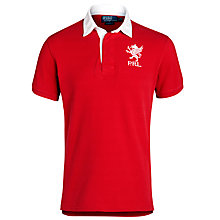 Buy Polo Ralph Lauren Lion Crest Rugby Shirt, Ralph Red Online at johnlewis.com