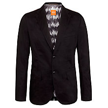 Buy Boss Orange Cotton Single Breasted Blazer, Black Online at johnlewis.com