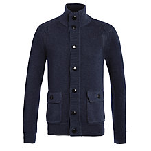 Buy Boss Orange Knitted Button Cardigan, Navy Online at johnlewis.com