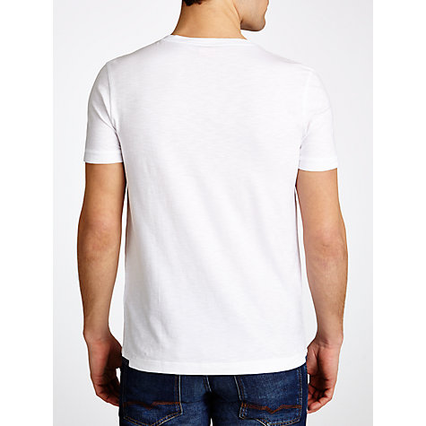 Buy BOSS Orange Jacquard Pocket Slub T-Shirt, White Online at johnlewis.com