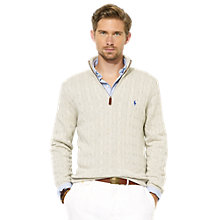 Buy Polo Ralph Lauren Tussah Silk Cable Jumper Online at johnlewis.com