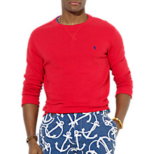 Buy Polo Ralph Lauren Jersey Sweat Shirt, Guide Red Online at johnlewis.com