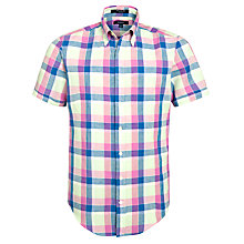 Buy Gant Linen Short Sleeve Check Shirt Online at johnlewis.com