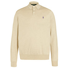 Buy Polo Ralph Lauren Custom Fit Knitted Long Sleeve Polo Online at johnlewis.com