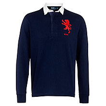 Buy Polo Ralph Lauren Lion Rugby Jersey Top, French Navy Online at johnlewis.com