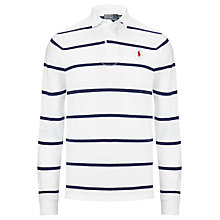 Buy Polo Ralph Lauren Striped Rugby Shirt, White Online at johnlewis.com