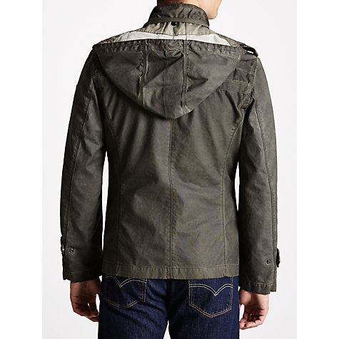 Buy BOSS Orange Wax Coated Cotton Field Jacket, Khaki Online at johnlewis.com