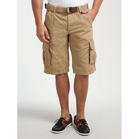 Buy Gant Belted Cotton Cargo Shorts Online at johnlewis.com